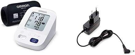 Omron X3 Máquina de presión sanguínea, control de la hipertensión en casa, aprobado por la protección de consumidores + Adaptador de corriente AC para tensiómetro M2, M3, M6, M7 y inhalador C803