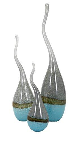 IMAX 47948-3 Squiggle Glass Vases - Set of - Trio Vases