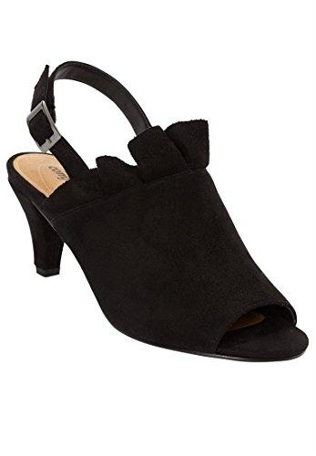 Fynd Katalog Utlopps Comfortview Plus Size Shira Faux-mocka Sandal Svart