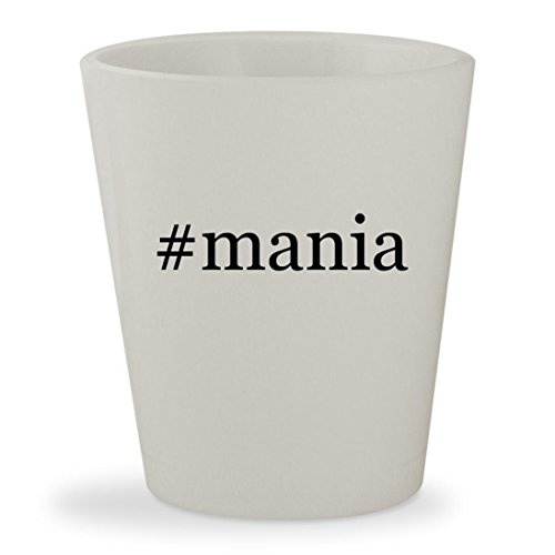 #mania - White Hashtag Ceramic 1.5oz Shot Glass