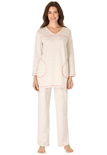 Dreams-Co-Womens-Plus-Size-Topstitched-Pajamas