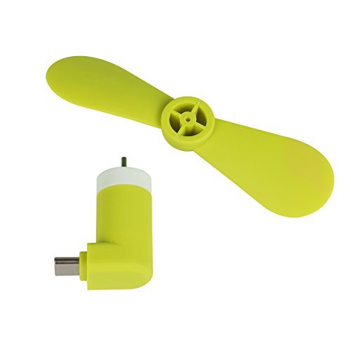 Benks USB teléfono Ventilador White for iphone (8 pin) Green for Type-C