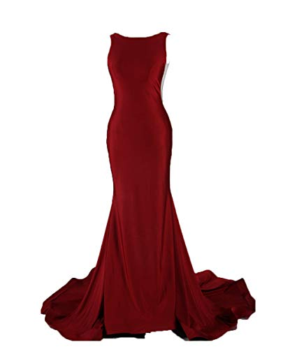 Halter Pleat Prom Dress Evening Gown Luxury Shiny Mermaid Style Burgundy for Party Wedding Event