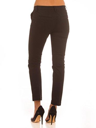 MANILA GRACE Pantalone Chino Nero