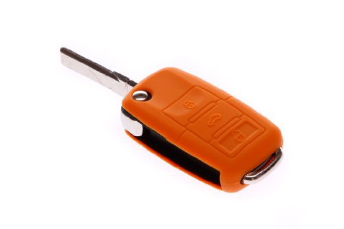 Orange Silikon Farbig Schl/üsselh/ülle Fernbedienung Schl/üsselcover /· Colourful Key Cover//Case VW /· Skoda /· Seat /·