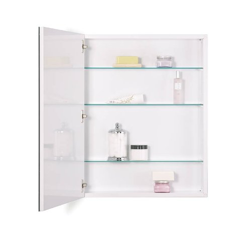 Medicine Frameless Flat Cabinet Mirror (NuTone 52WH304PF Metro Classic Oversize Medicine Cabinet with Flat Trim, 30 by 4-Inch)