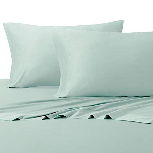 [해외]편안 하 게 바다 색깔에 있는 매끄러운 연약한 가득 차 있는 대나무 장; 100% 비스코 스 온도 조절 패브릭 / Silky Soft Full Bamboo Sheets in Relaxing Sea Color; 100% Viscose Temperature Regulated Fabric
