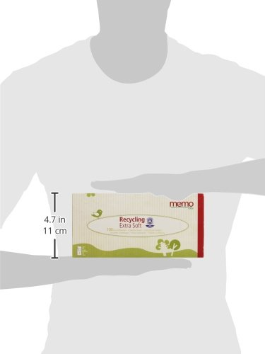 Memo Hygi/ène Bio ECO MH1067 Tissues Recycled Paper Pack of 100 in Box
