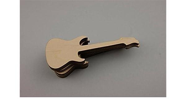 10 x guitarra de madera, adornos, decoración para Sala de Música ...