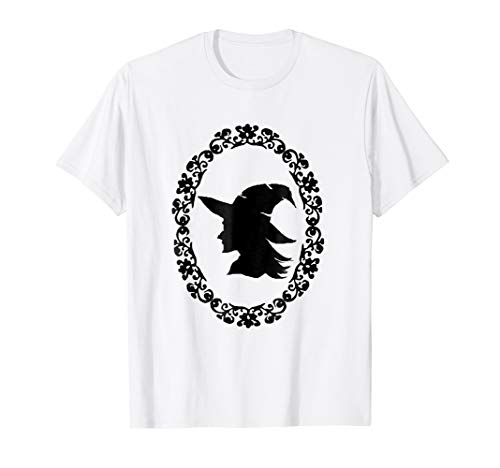 Witch Silhouette Wicked Witch Halloween Spooky Tee Shirt