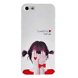 Bashful Beauty Pattern TPU Soft GEL Case for iPhone 5/5S