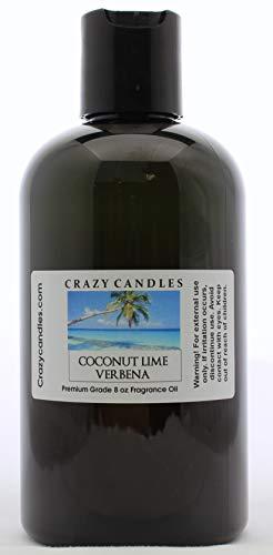 Crazy Candles 8oz Coconut Lime Verbena 8 Fl Oz Bottle (240ml) Premium Grade Scented Fragrance Oil By (Aromatherapy Verbena)