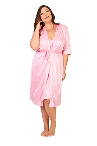 Sindrella Women's Robe & Gown Set X-Large Pink