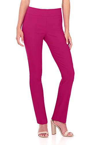 Rekucci Women's Ease in to Comfort Straight Leg Pant with Tummy Control ()