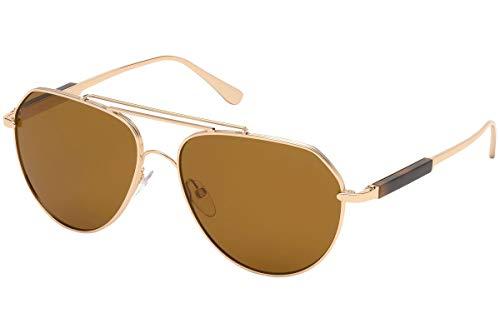 Tom Ford FT0670 - 28E Sunglasses Gold Frame w/ Brown Lens 61mm