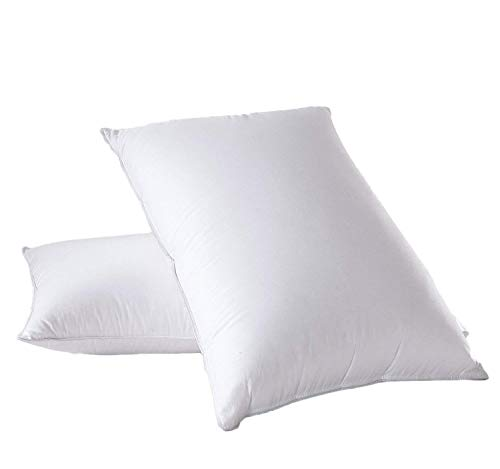 Abripedic Medium firm Goose Down Pillow - 600 Thread Count, 100% Cotton...