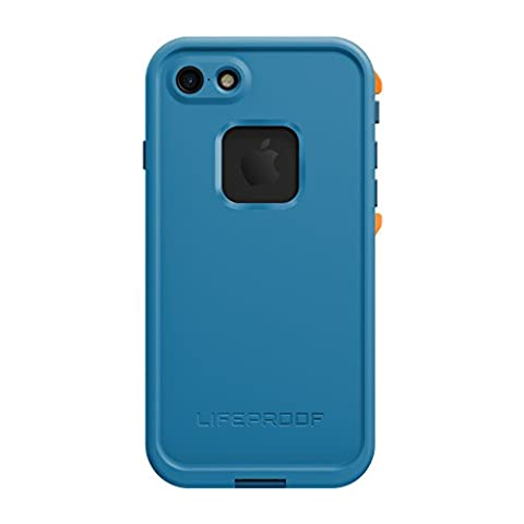 Lifeproof FRE SERIES Waterproof Case for iPhone 7 (ONLY) - Retail Packaging - BASE CAMP BLUE (COWABUNGA BLUE/WAVE CRASH/MANGO (Blue Waterproof Iphone Case)