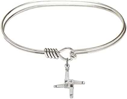 Bracelets St Matilda Charm On A 6 1/4 Inch Round Eye Hook Bangle Bracelet