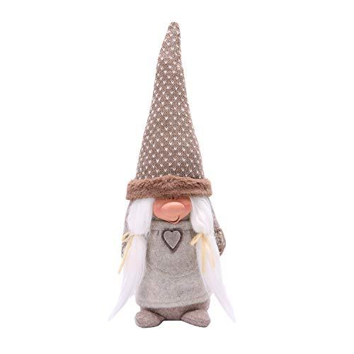 LARLIFE Handmade Christmas Gnome Decoration Santa Swedish Figurines (Woman)