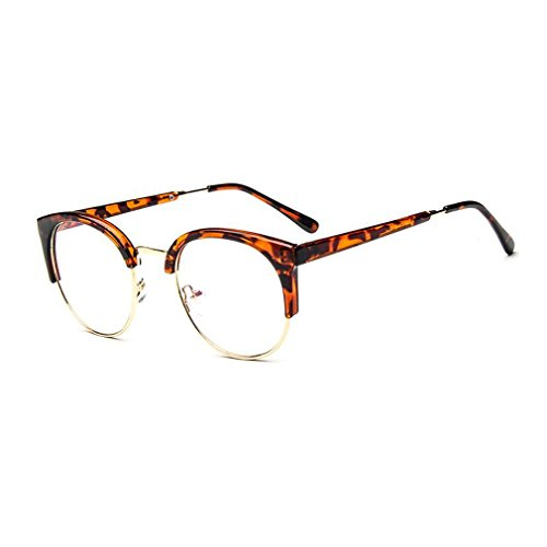 MOQQE Eyeglasses Glasses Frame Eyewear Fashion Cateye Round For Men and - Adjusting Plastic Frames Eyeglass