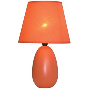Lite Source LS-21489ORN Table Lamp, Orange Ceramic with Silhouette ...
