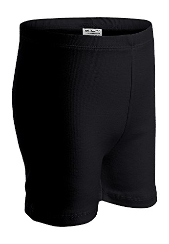 - CAOMP Girls' Bike Short 100% Organic Cotton for Sports and Under Skirts (13-14, Black)