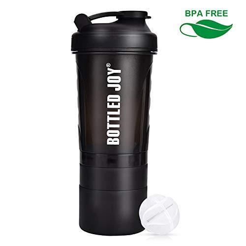 BOTTLED JOY Protein Shaker Bottle 20 oz Shake