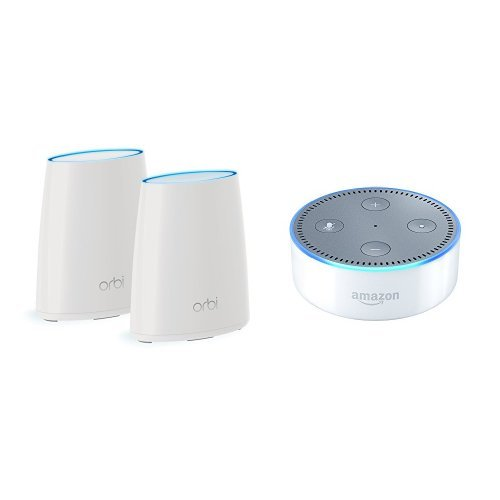 Price comparison product image Orbi Home WiFi System - WiFi Router and Satellite. Up to 4000sqft AC2200 Tri-Band WiFi (RBK40) bundle with NETGEAR DOCSIS 3.0 Cable Modem. Max download speeds of 1.4Gbps. (CM700)
