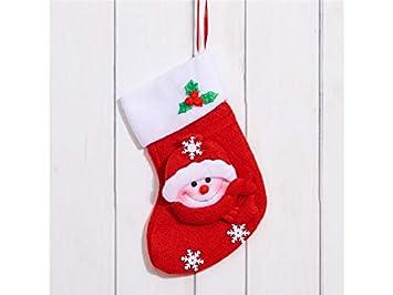 ... Navideña Franela Muñeco de Nieve Calcetines de Navidad Bolsa de Regalo Bolsa de Regalo Colgante de decoración de árbol de Navidad: Amazon.es: Hogar