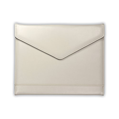Samsill Envelope Style Trifold Padfolio for Women - Resume Portfolio/Business Portfolio with Magnetic Closure (Cream, Letter Size)