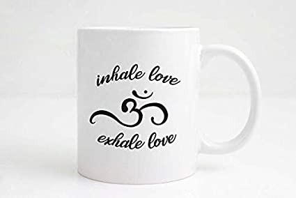 Amazon.com: Funny Yoga Gifts Inhale Love Exhale Love ...