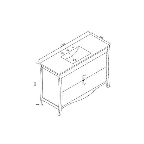 """hot sale 2017 Jade Bath JB-18250 47.17"""" W x 18.03"""" D Birch Wood-Veneer Vanity Set, Coffee"""