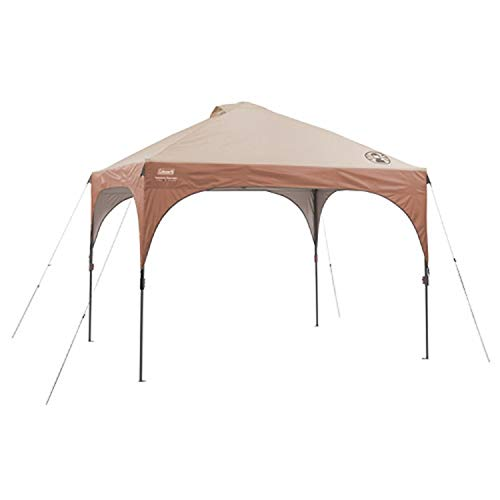 Coleman Instant Pop-Up Canopy Tent and Sun Shelter with LED Lighting, 10 x 10 Feet