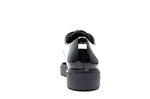 Calvin Klein Victorina Patent, Zapatos de Cordones Derby para Mujer negro