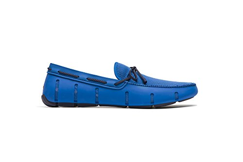 SWIMS Men's Braided Lace Loafer for Pool - Blitz Blue/Navy, 12 by SWIMS