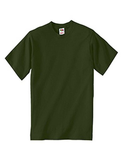 - Fruit of the Loom 3931B Youth Cotton T-Shirt - MILITARY GREEN - S