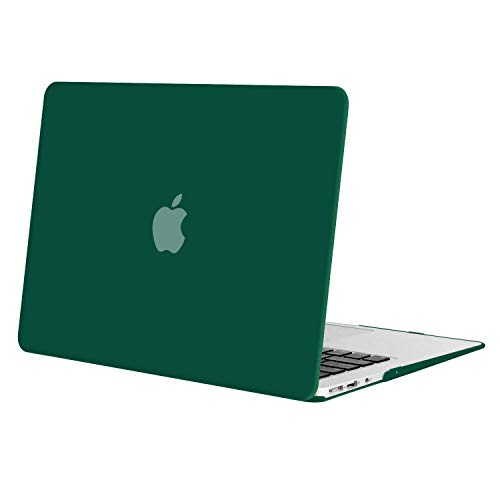 MOSISO MacBook Air 13 Case (Models: A1369 & A1466, Older Version 2010-2017 Release), Plastic Hard Shell Case Cover Only Compatible MacBook Air 13 Inch, Peacock Green