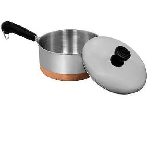 Revere Copperclad Bottom 1-Quart Covered Saucepan - Revere Copper Brass