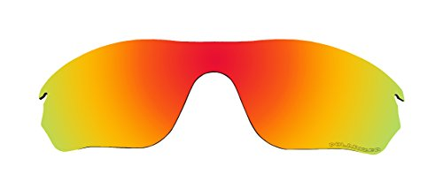 Polarized Replacement Lenses for Oakley RadarLock Edge (OO9183) Sunglasses Fire Red Mirror (Edge Replacement Lenses)