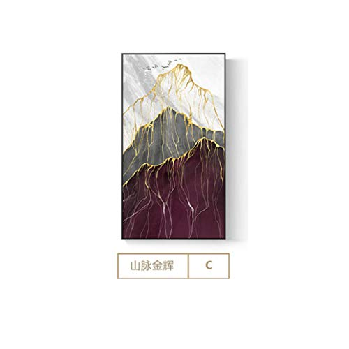 HANBINGPO Abstract Mountain Landscape Canvas Painting Modern Art Wall Picture for Living Room Bedroom New Chinese Style Poster Print Decor,40x70cm(no Frame),C