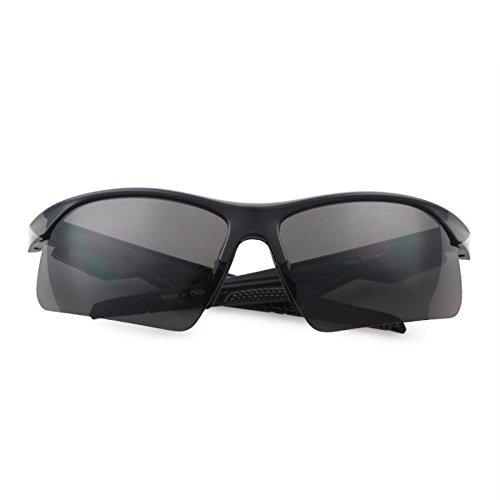 Sport Sunglasses - Black - 100% UV Protection (Black/Red, - Brands Sunglasses Athletic