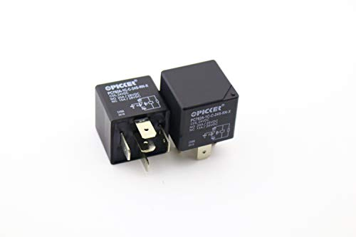 -RN-X-2 | 5 Pin Bosch Style SPDT 24 VDC Coil with Resistor, 40/30 Amp Switching, Mini ISO Sealed Automotive Plug in Relay ()