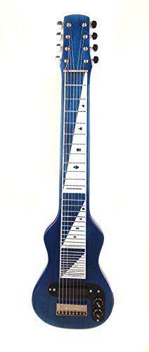 Joe Morrell Pro Series 8-String Poplar Body Lap Steel Guitar -Transparent Blue USA by Morrell