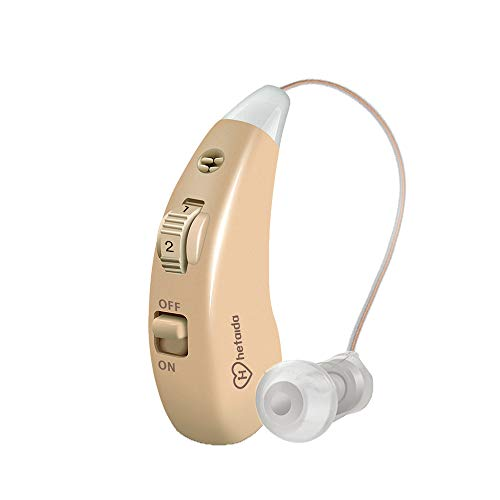 Rechargeable Hearing Aid for Seniors and Adults Digital Sound Amplifiers Enhancer for Severe Hearing Loss (Fit to Either Ear)