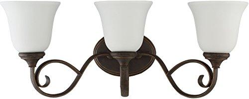 Craftmade 24203-MB-WG Barrett Place 3 Light Vanity Incandescent, Mocha Bronze