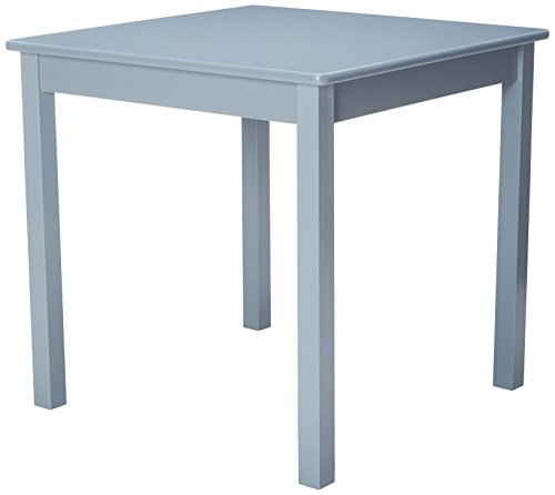 Lipper International 520G Child's Table for Play or Activity, 23.75'' x 23.75'' Square, 21.66'' Tall, Grey by Lipper International