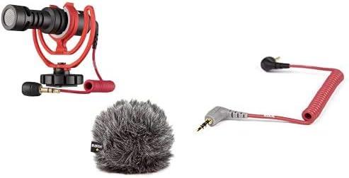 Rode Videomicro Kompakt On Camera Microphone Sortierte Farben Rode Anschlusskabel Auf Handy 0 4 M 3 5 Mm Klinkenstecker Für Videomic Go Smartphone Tablet Rot Musikinstrumente