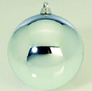 DS Euro 12er Set Christbaumkugeln, Weihnachtskugeln 8cm Silber glänzend, Outdoor Kunststoff, schwer entflammbar, Lieferung Fr
