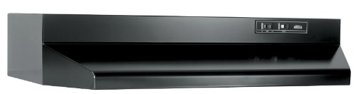 Black Stove - Broan 403023 30 In. Black Ducted Range Hood