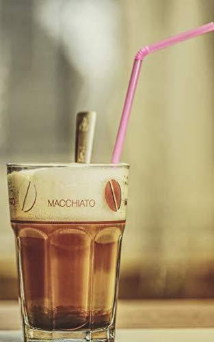Notebook: Latte macchiato coffee glass drink espresso coffee cappuccino milk café au lait mocha ()